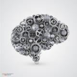 Radertjes in de vorm van menselijke hersenen Stock Afbeeldingen