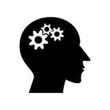 Radertjes die in de hersenen van de mens werken Stock Foto's
