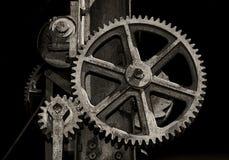 Radertjes en toestellen van machine stock afbeeldingen