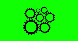 Radertjes en Wielen4k Animatie met Groene Alpha Channel vector illustratie