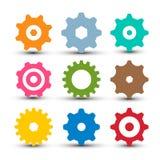 Radertjes - Geplaatste Toestellen Vectorogpictogram stock foto