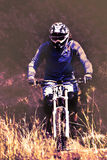 Radfahren als Extrem- und Spaßsport Lizenzfreies Stockfoto