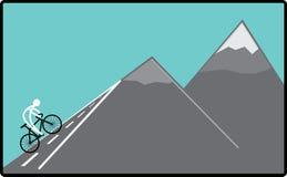 Radfahren auf den Hügel Lizenzfreie Stockfotos