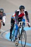Radfahren am Calgary-Velodrome Stockbilder