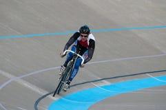 Radfahren am Calgary-Velodrome Lizenzfreie Stockbilder