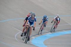 Radfahren am Calgary-Velodrome Stockbild
