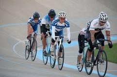Radfahren am Calgary-Velodrome Stockfotografie