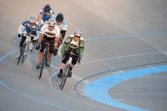 Radfahren am Calgary-Velodrome Lizenzfreies Stockbild