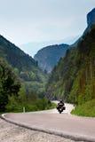 Radfahren der Alpen Lizenzfreies Stockbild