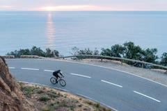 Radfahren des frühen Morgens lizenzfreies stockbild