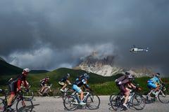 Radfahren in die Berge Stockfoto