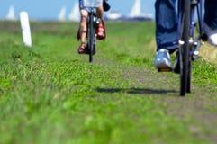 Radfahren in die Niederlande Stockbild