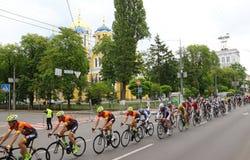 Radfahren: Horizont-Park-Rennen Maidan in Kyiv, Ukraine stockbilder