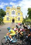 Radfahren: Horizont-Park-Rennfrauen-Herausforderung in Kyiv, Ukraine lizenzfreie stockfotos