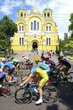 Radfahren: Horizont-Park-Rennfrauen-Herausforderung in Kyiv, Ukraine lizenzfreie stockbilder