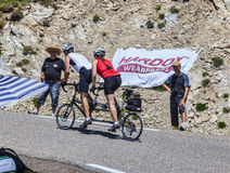 Radfahren in Pyrenäen Stockbild