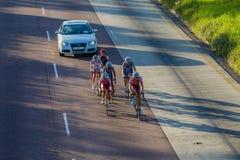 Radfahren-Rennen brechen weg Durban-Klassiker Lizenzfreie Stockfotos