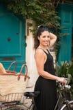 Radfahren in St Tropez Stockfotografie