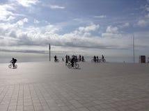 Radfahren unter die Sonne Stockfotos