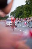 Radfahren-Zeit Trialist, Hampton Court Lizenzfreie Stockfotos