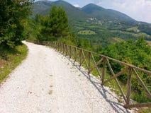 Radfahrende Bahn auf dem Berg stockfotografie