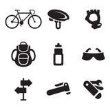 Radfahrende Ikonen Lizenzfreies Stockbild