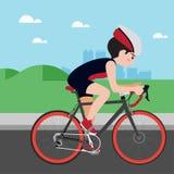 Radfahrende Vektorkarikatur des athletischen Sports Lizenzfreie Stockfotografie
