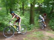 Radfahrender Berg, Lublin, Polen Stockbild