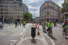 Radfahrenereignis RideLondon - London 2015 Stockbilder