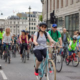 Radfahrenereignis RideLondon - London 2015 Stockfotografie