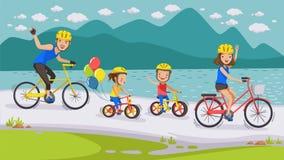 Radfahrenfamilie stock abbildung