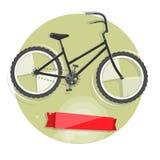 Radfahrenkonzept Fahrrad Helle Illustration des Vektors des Fahrrades Modische Art für Grafikdesign, Logo, Website, Social Media, Stockbilder