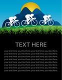 Radfahrenplakatdesign Stock Abbildung