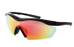 Radfahrenreiten fahren Sport-Sonnenbrille, Bild auf Whit rad Stockbild