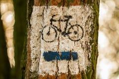 Radfahrenspur Stockfotos