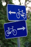 RadfahrenVerkehrsschilder Stockfotos