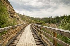 Radfahrenweg Myra Canyons Lizenzfreie Stockbilder