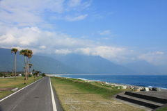Radfahrenweg, Taiwan stockfotos