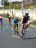 Radfahrenwettbewerb in Bukarest Stockfotografie