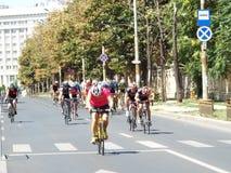 Radfahrenwettbewerb in Bukarest Stockbild