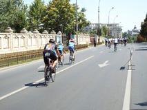 Radfahrenwettbewerb in Bukarest Lizenzfreie Stockbilder