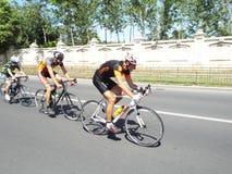 Radfahrenwettbewerb in Bukarest Stockbilder