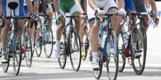 Radfahrenwettbewerb panoramisch Stockbild