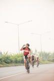 Radfahrenwettbewerb in Thailand stockfoto