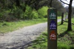 Radfahrenzeichen des Tales stockfoto