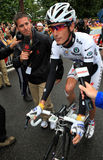 Radfahrer Andy Schleck Lizenzfreies Stockbild