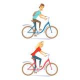 Radfahrer auf städtischem Fahrrad Lizenzfreie Stockfotografie