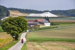 Radfahrer (Bayern, Deutschland) Lizenzfreies Stockbild