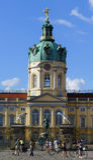 Radfahrer bei Schloss Charlottenburg Lizenzfreies Stockfoto