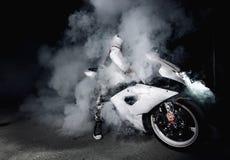 Radfahrer Burnout Lizenzfreie Stockfotos